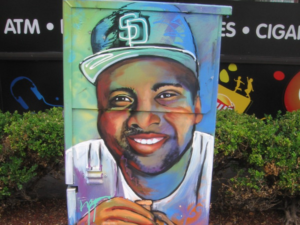 The smiling face of Tony Gwynn, a Hall of Fame baseball legend.