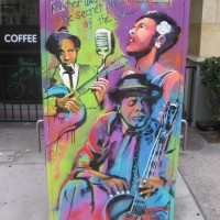 Street art celebrates legendary musicians!
