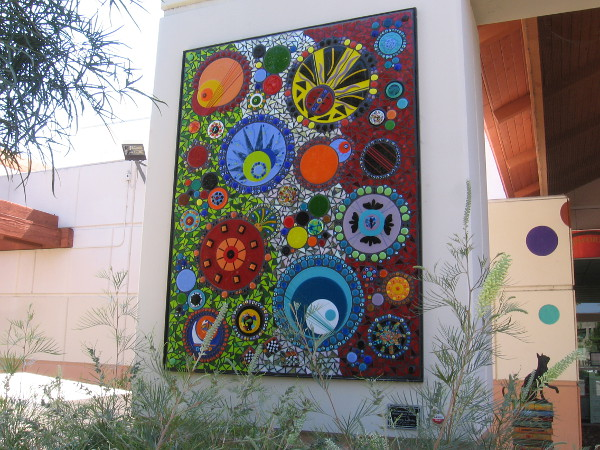 A second mosaic glass mural. All three are titled Interconnected. Created by Cherrie LaPorte.