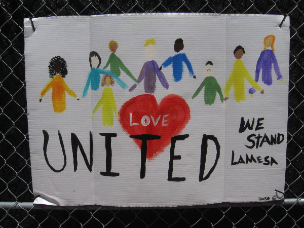 Love. United we stand.