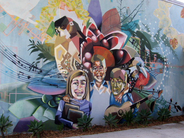 An extraordinary mural at Pacific Beach Elementary School painted in 2010 by artist Isaias Crow.