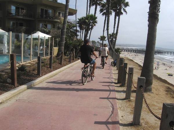 Lots of bicyclists out on a warm Friday afternoon.