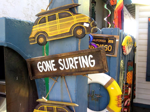 Gone Surfing.