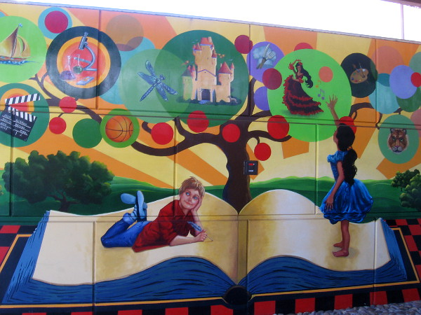Learning is celebrated with amazing artwork at the Vista Library.
