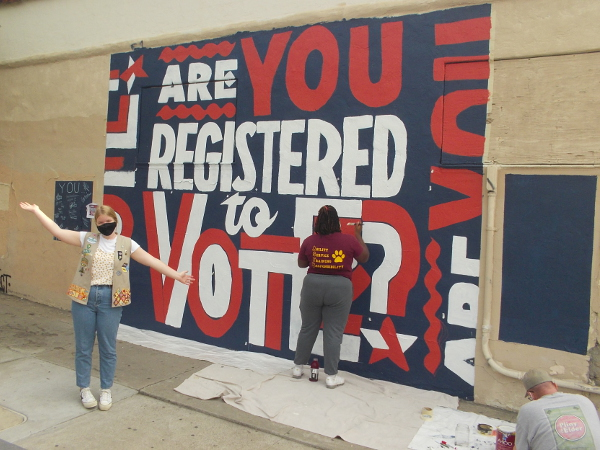 Mural painted in City Heights inspires those who see it to register to vote.