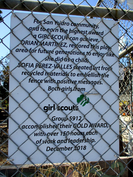 Two Girl Scouts achieved the Gold Award for a 2018 project at the San Ysidro Community Center.