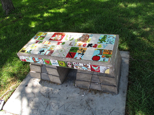 A second Trail to Literacy bench at San Ysidro Park.