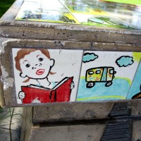 Trail to Literacy benches in San Ysidro.