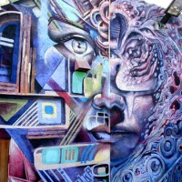 Murals behind San Ysidro's The Front gallery!