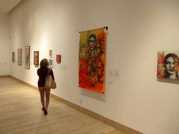 Visitor to the Museum at the California Center for the Arts, Escondido explores The World of Frida.