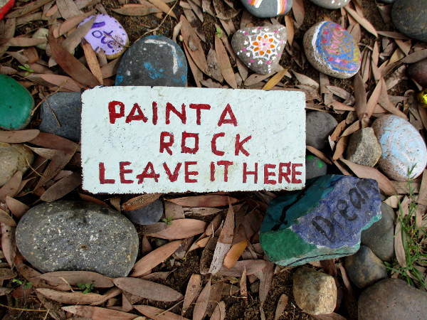 Paint a rock. Leave it here.