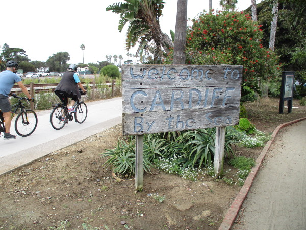 I believe this old wooden Welcome to Cardiff By the Sea sign used to stand beside Highway 101.