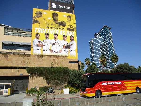 I noticed a couple of buses were parked by Petco Park. Did they drive all the way from St. Louis?