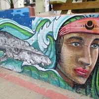 Murals in downtown Cardiff-by-the-Sea!