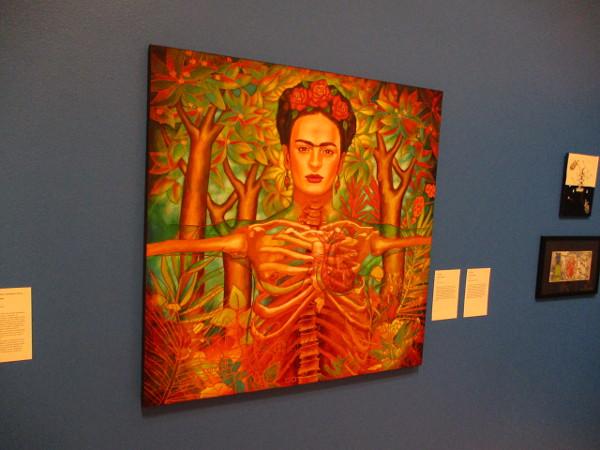 Corazon de Frida, by artist Juan Solis, 2018. Acrylic on canvas.