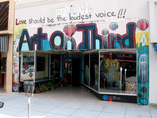 At Chula Vista's cool Art On Third, love should be the loudest voice!