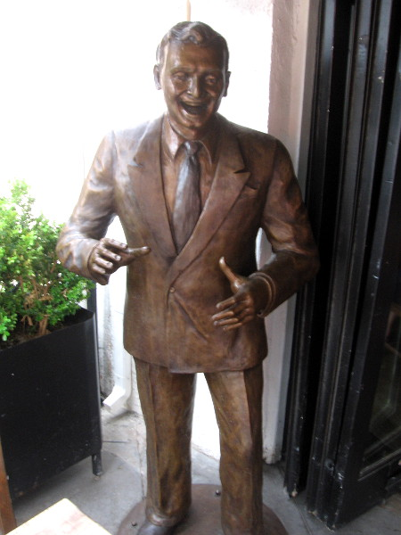 Statue of Frankie Laine, legendary singer, songwriter, actor and entertainer, on India Street in San Diego's Little Italy neighborhood.