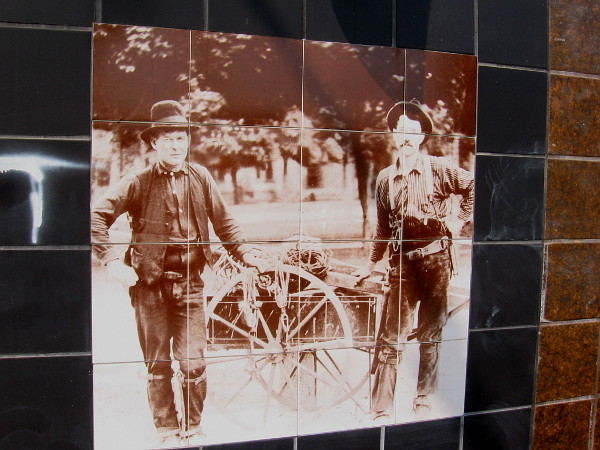 Old photo on AT&T building shows a scene from Chula Vista's early history.