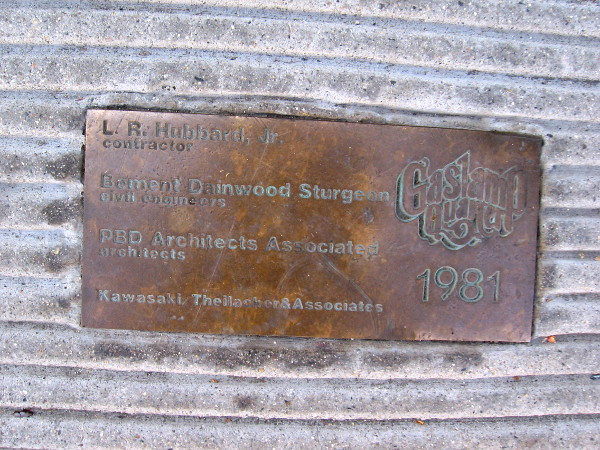 Plaque in the sidewalk on Market Street recalls major renovations that were made in the once-seedy Gaslamp Quarter in 1981.