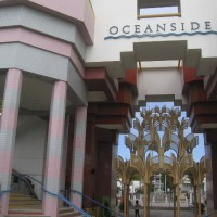Fantastic architecture at Oceanside Civic Center.