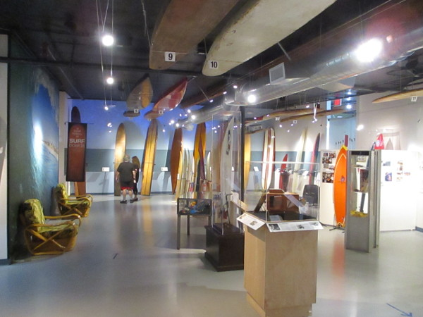 Numerous exhibits fill the small but very cool California Surf Museum in Oceanside.