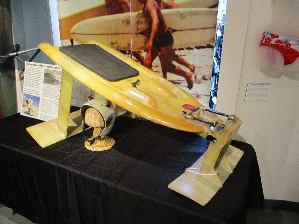 "A very unique hydrofoil for kneeboard surfing, designed by oceanographer Dr. Tareah ""Terry"" Hendricks. A plaque in his honor can be found at Swami's in Encinitas."