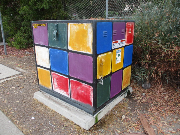 Street art that resembles a Rubik's Cube!