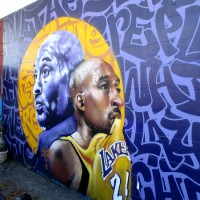 Kobe Bryant tribute mural in Normal Heights.