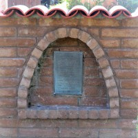 Hidden historical marker near Mission San Diego.