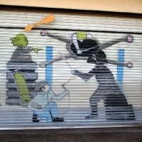 Funny murals at Mason's Auto Clinic!