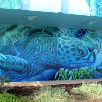 Imperial Beach water mural depicts sea life.