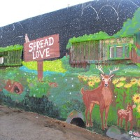 A mural to Spread Love in Valencia Park!