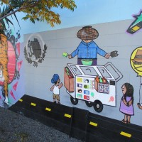 Colorful murals at National City Market!