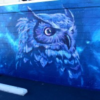 The very cool Nite Owl mural!