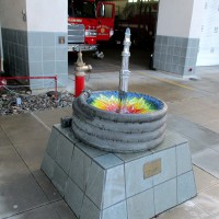 Colorful artwork at Golden Hill fire station!