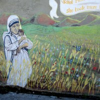 Mother Teresa mural expresses unconditional love.