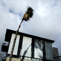 Photos of high winds downtown.
