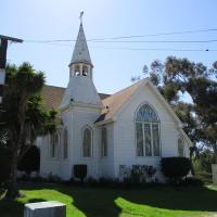 Photos outside the old Nestor Methodist Church.