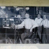 Old photos on AT&T building in El Cajon.