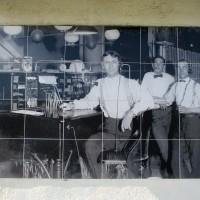 Old photos on AT&T building in El Cajon.