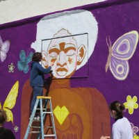 Waldorf School students paint mural in City Heights!