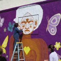 Waldorf School students paint mural in City Heights!
