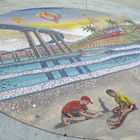 Stunning mosaic at North Island Credit Union.