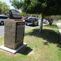 Monument to historic radio station KCBQ in Santee.