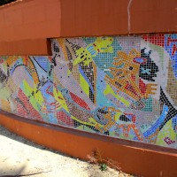 San Diego library mosaic: To Light the Way Within.