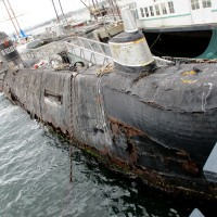 Soviet submarine at Maritime Museum nears end of life.