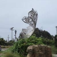 The mysterious Coastal Helix sculpture in Carlsbad!