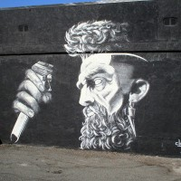 Cool barber shop mural in North Park!