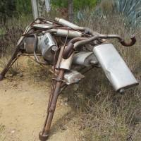 Neighbors create sculptures for community garden!
