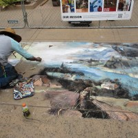Famous painting by Bruegel turns to chalk!